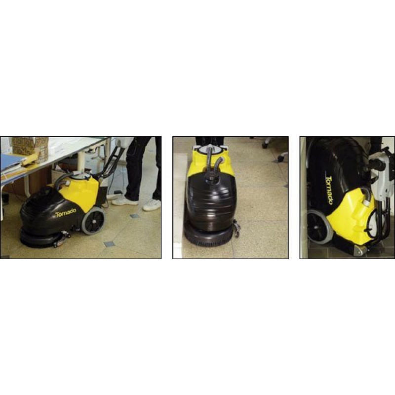 tornado® 14 inch cordless automatic floor scrubber