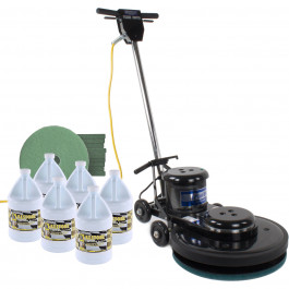 Ceramic Tile Floor Polishing Package w/ Burnisher, Pads & Chemicals