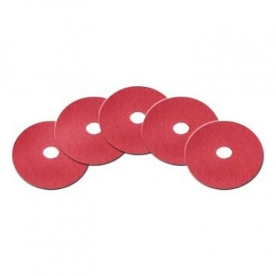 13 inch Red Light Duty Floor Scrub Pads