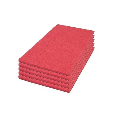 Case of 14 x 24 inch Red Floor Buffing Pads