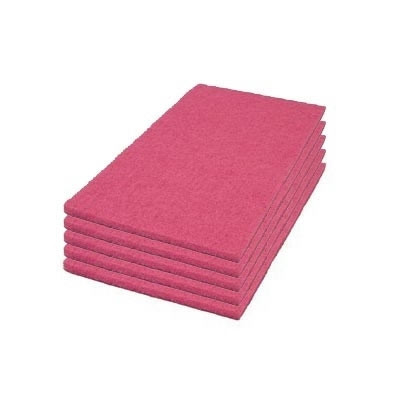 Case of Flamingo Auto Scrubber Floor Cleaning Pads - Rectangular