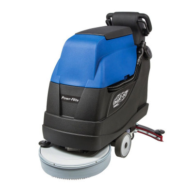 Powr-Flite Phantom 20 inch Traction Drive Automatic Floor Scrubber w/ Pad Driver