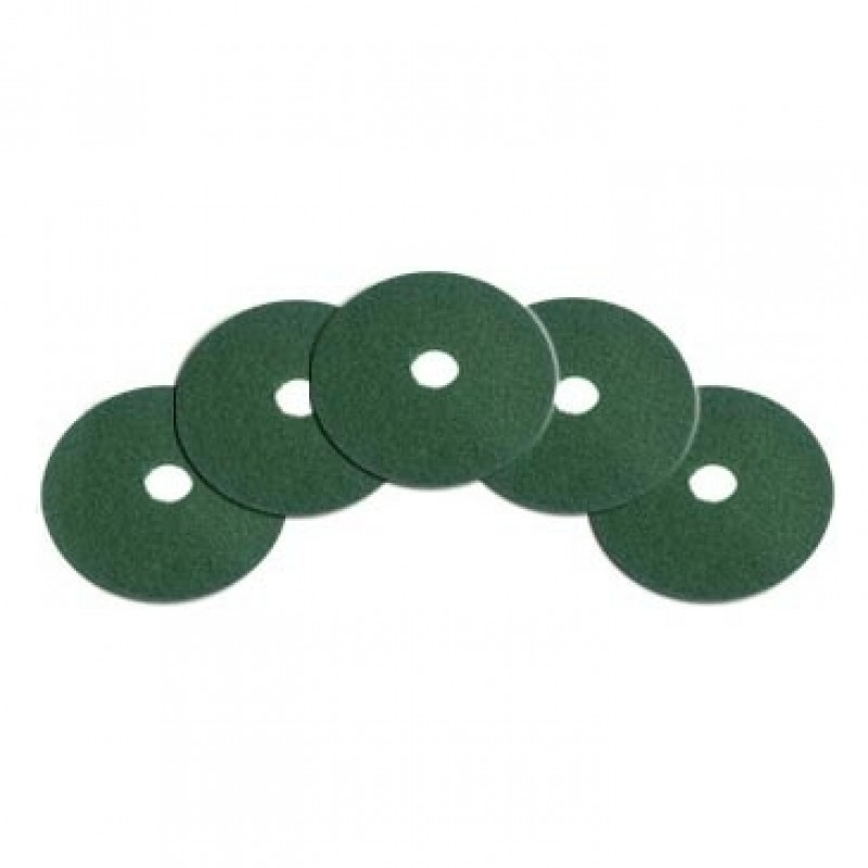 14 Inch Green Heavy Duty Floor Scrubbing Pads Box Of 5