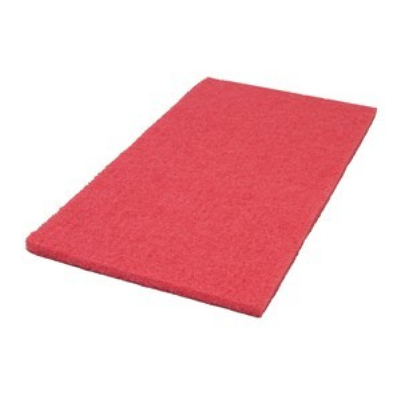 14 X 20 Inch Red Orbital Auto Scrubber Pads