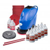 "20"" Battery Powered Automatic Floor Scrubber Package w/ Degreaser, Defoamer, Pads & Brush"