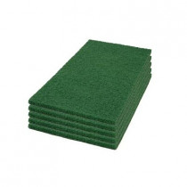 "14"" x 24"" Green Top Coat Scrub & Strip Pads - Case of 5"
