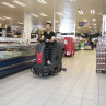 "Viper AS850R 32"" Rider Automatic Floor Scrubber In Use"